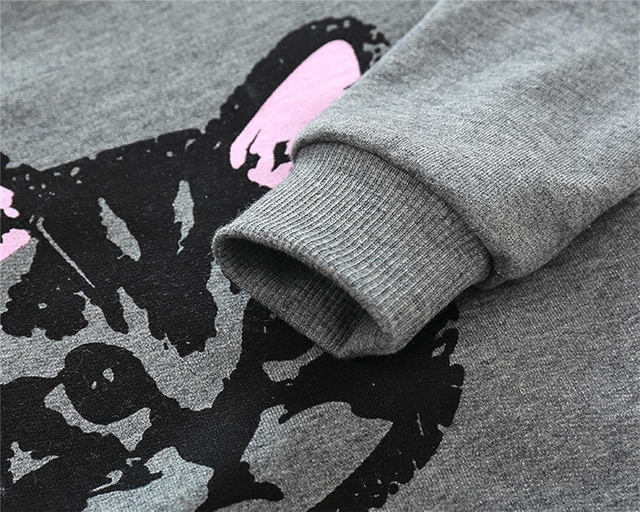 puseky Kleinkind Kinder M/ädchen s/ü/ße Katze Sweatshirt Tops und Hosen Trainingsanzug Outfits Set