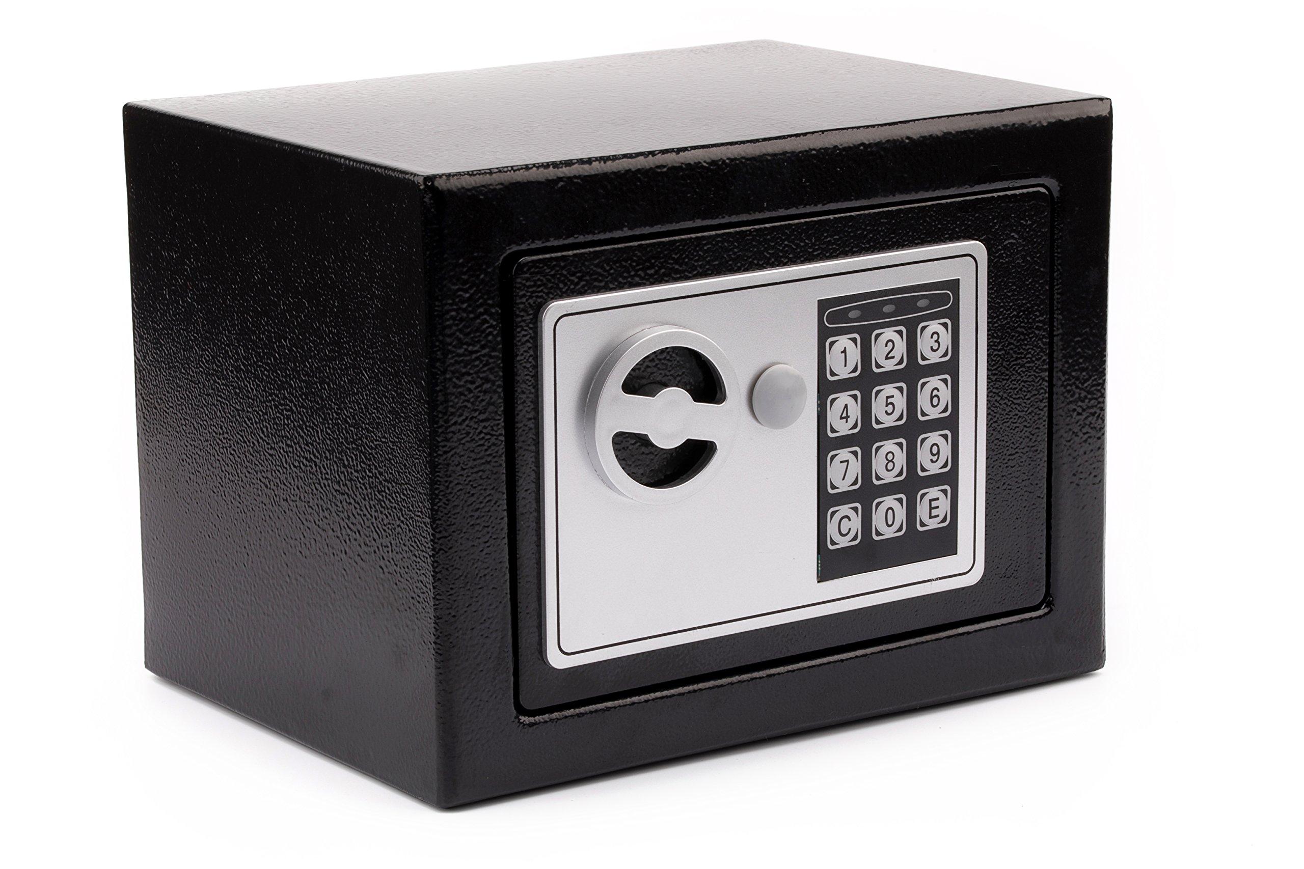 Windaze Electronic Digital Safe Box Keypad Lock for Gun Cash Jewelry Valuable Storage, 0.23 Cubic Feet