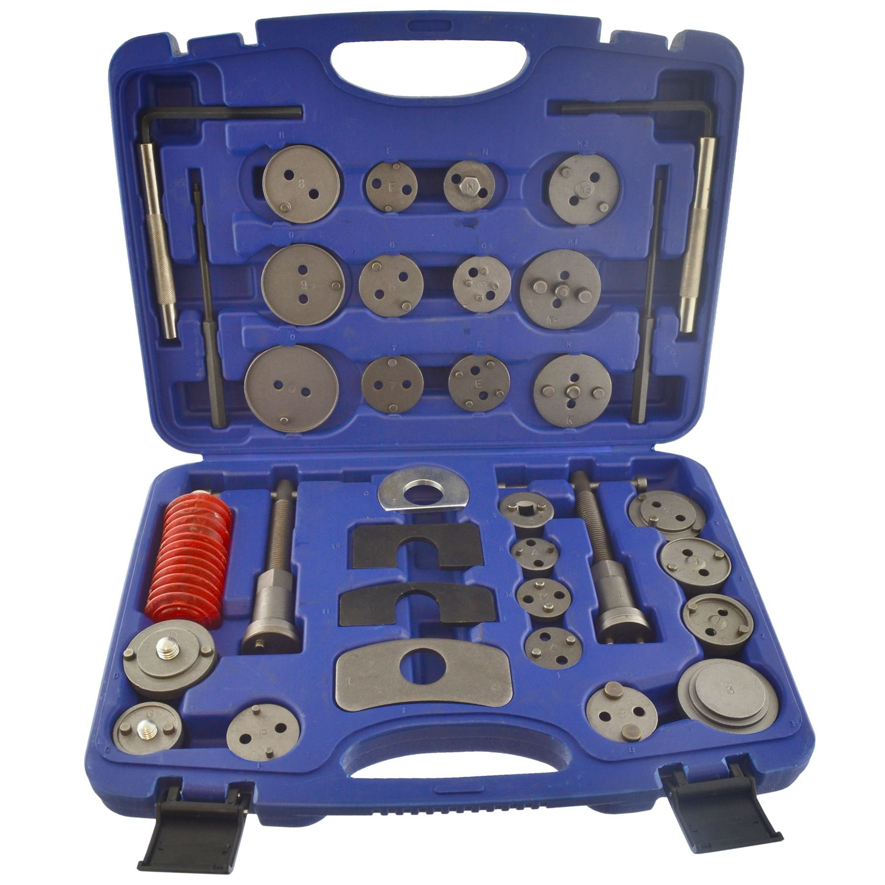 AB Tools-US Pro 35pc Left & Right Hand Brake Calliper/Calliper Wind Back Tool Piston Kit AU003