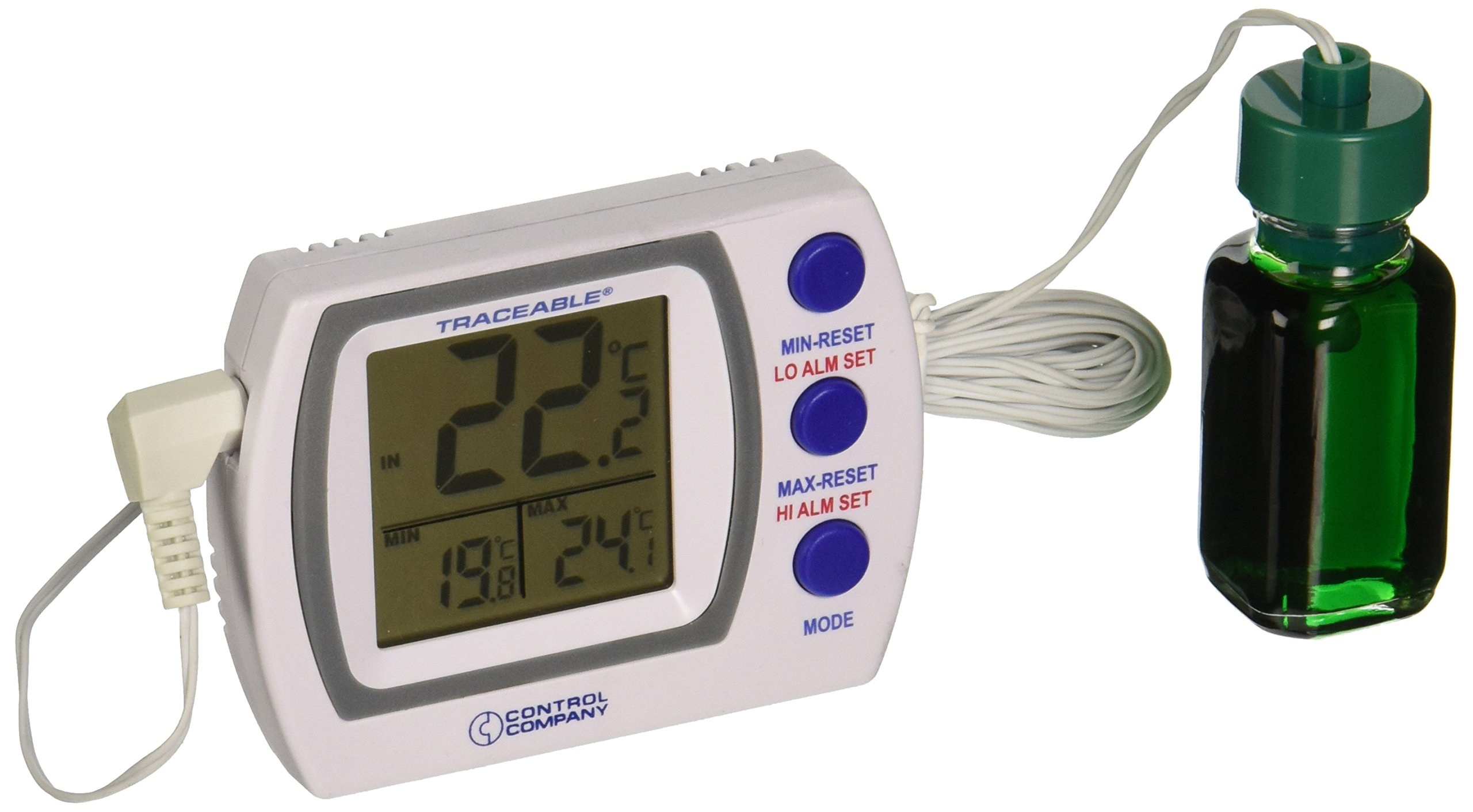 Control Company 4227 Traceable NIST Certified Refrigerator/Freezer Thermometer with Alarm