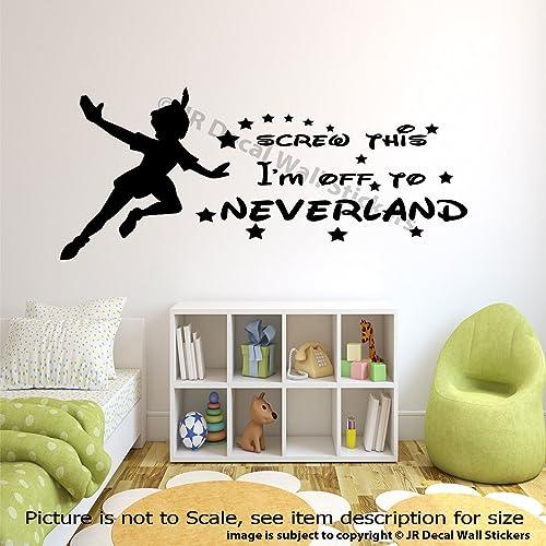 Amazon.com: Walt Disney Peter Pan Quotes Off to Neverland ...