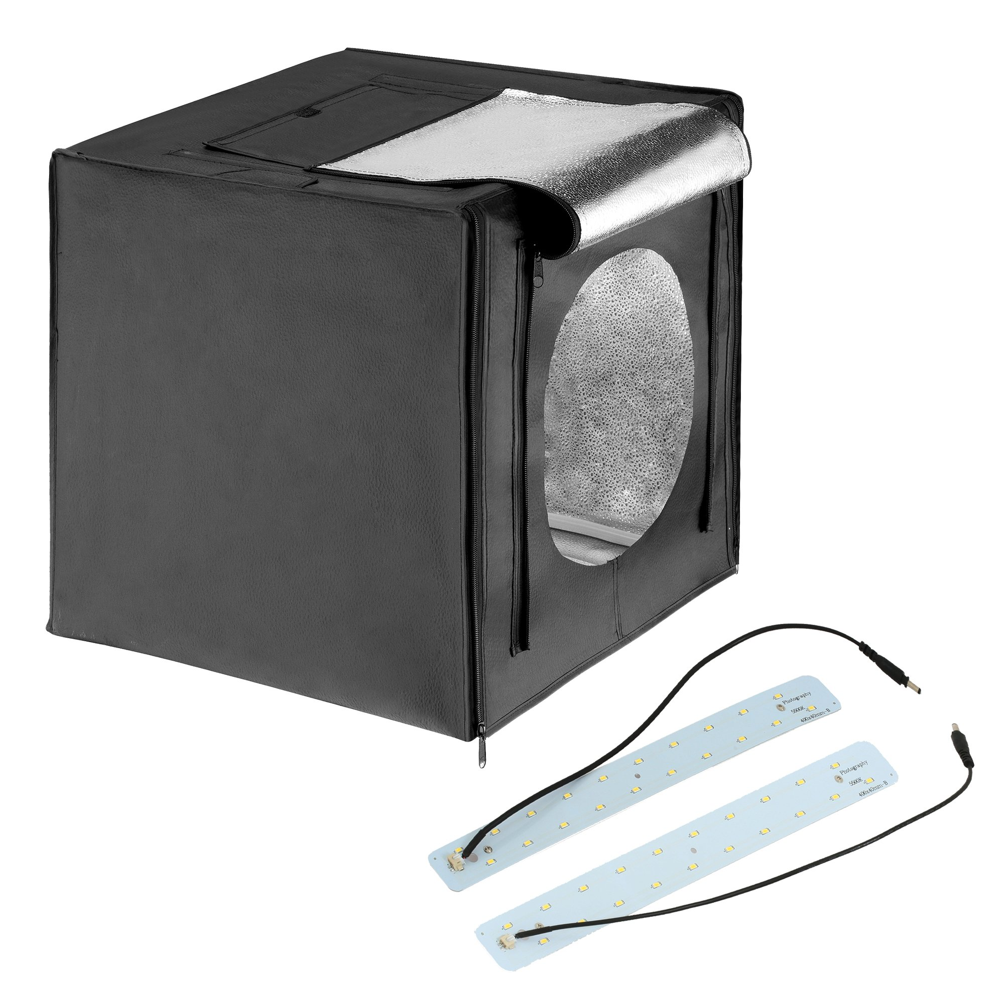Square Perfect 16 Inch LED Photo Studio in A Box w/4 Color Backdrops Pro Quality by SQUARE PERFECT
