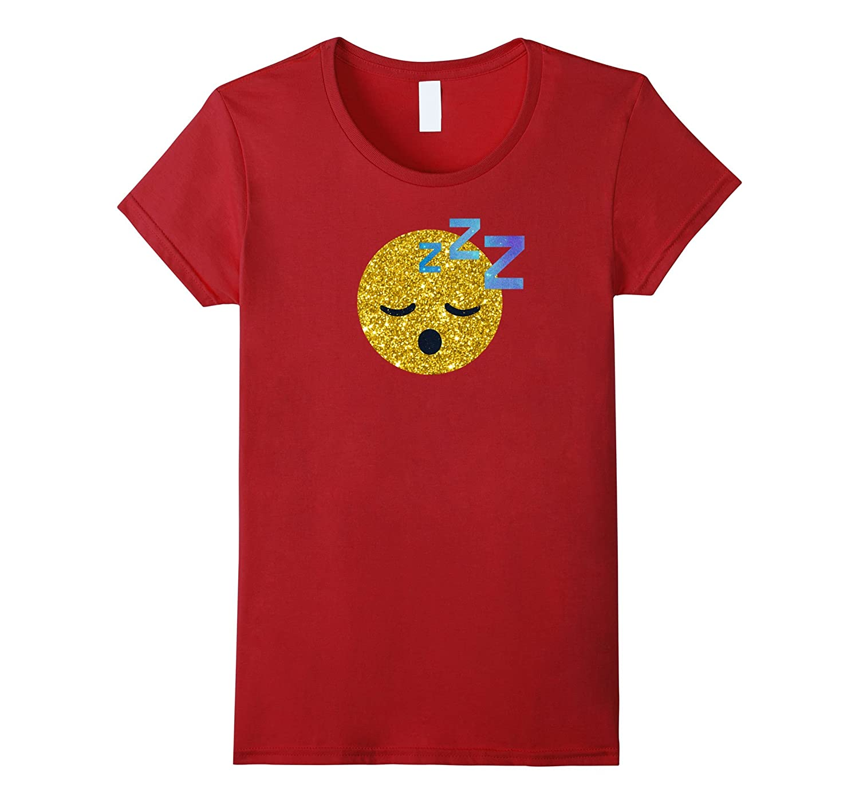 Cool Galaxy Sleeping Emojis Gold Sleepover Party Cute Shirt