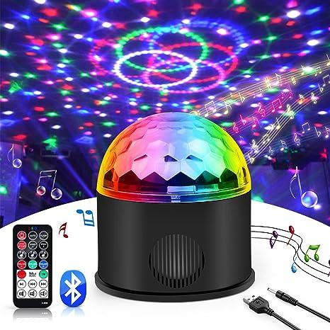 e6dd1365e luz de discoteca,Jomst luces de colores para fiestas disco Lámpara 9 colores  Jugar MP3