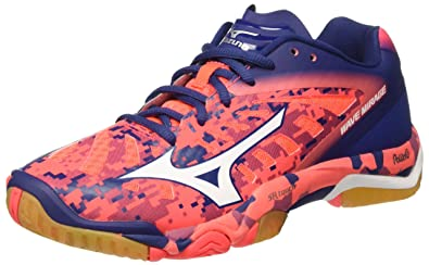 Herren Wave Mirage Tennisschuhe, Multicolore (Fierycoral/White/Twilightblue), 46.5 EU Mizuno