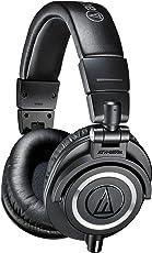 Audiotechnica ATH-M50X Audífonos Profesionales Monitorizado para Estudio, color Negro