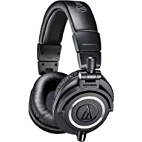 Audio-Technica ATH-M50x Professional Headphones, Black