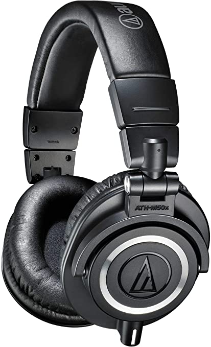 81aea9eb719 Amazon.com: Audio-Technica ATH-M50x Professional Studio Monitor Headphones,  Black: Musical Instruments