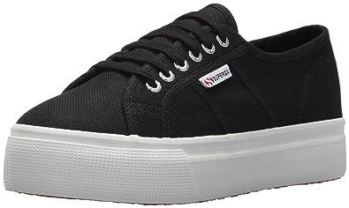 c95efdc261f Superga Women s 2790 Platform Sneaker Black White 35 M EU (5 ...