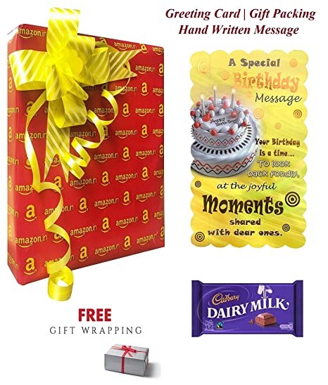 A Special Birthday Message Greeting Card For Someone With Hand Written Gift Pack Amazonin Home Kitchen