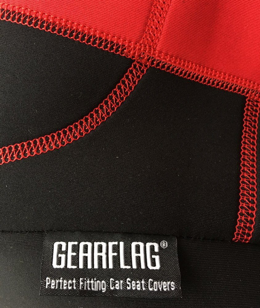 Red//Black GEARFLAG Neoprene Seat Cover Custom fits Jeep Wrangler JK 2//4 Doors 2007-17 with no Side airbag Front Pair Seats only