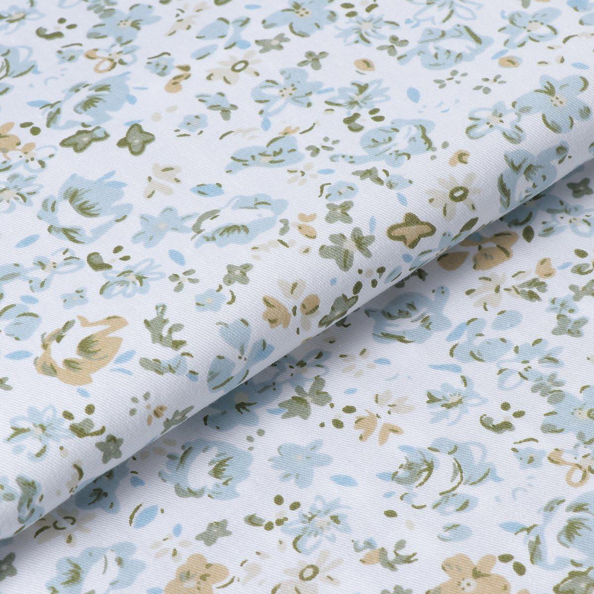 Healifty 7pcs Quadrate Bundle Floral Cotton Craft Stoff f/ür Patchwork DIY N/ähen Scrapbooking Quilten 50 x 50 cm grau