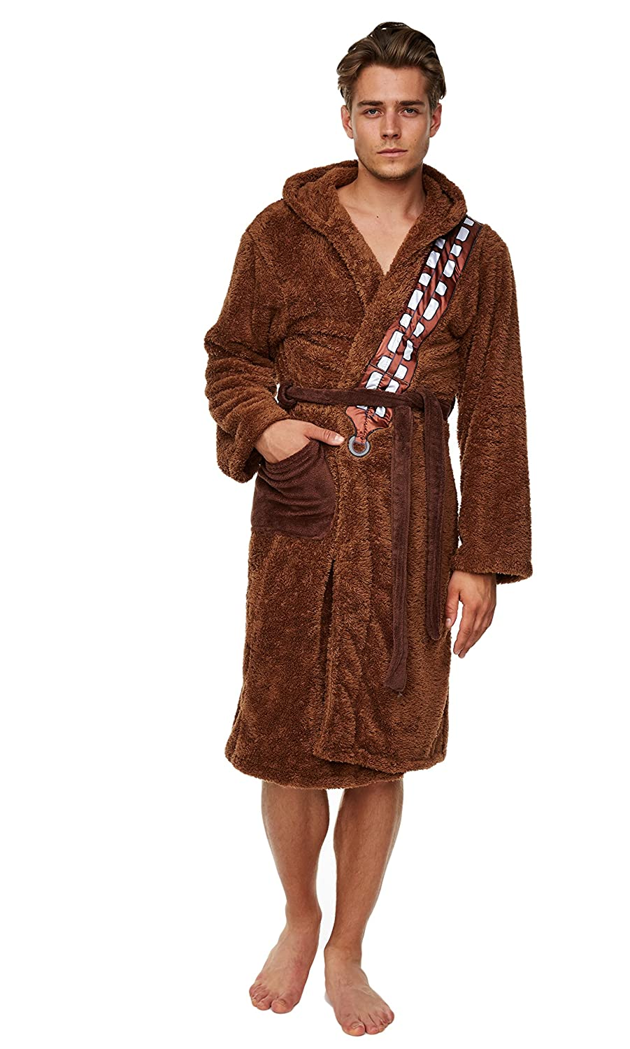 Mens Brown Fleece Chewbacca Star Wars Dressing Gown: Amazon.co.uk ...
