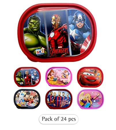 79af126b92f3 Buy Kieana Printed Cartoon Lunch Box   Tiffin Box Kids Return Gifts for  Birthday (Pack of 24) Online at Low Prices in India - Amazon.in