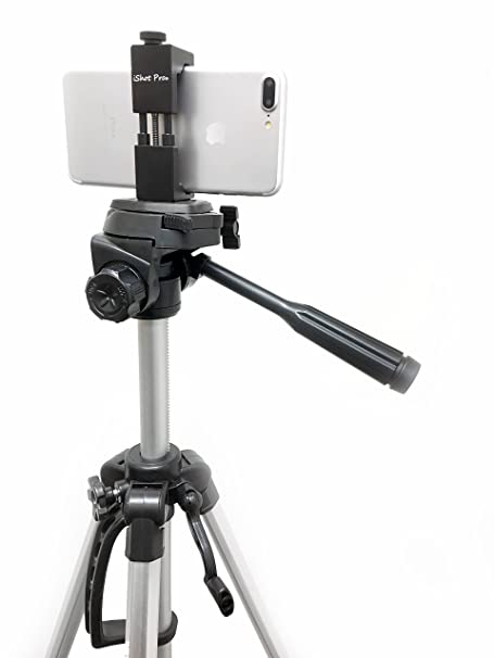brand new 998e5 a6512 iShot Pro SecureGrip Metal iPhone Universal Smartphone Tripod Monopod Mount  Adapter Holder + 60
