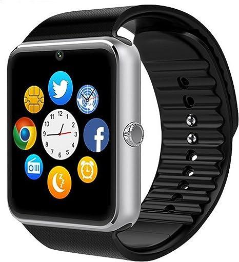 GSTEK Reloj Inteligente Bluetooth Smart Watch Teléfono Inteligente ...