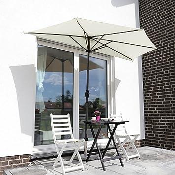 Amazon De Sekey 2 7m Halb Runder Sonnenschirm Marktschirm Terrassen