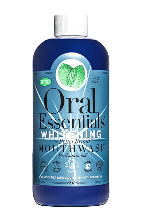 Oral Essentials Whitening Mouthwash Dentist Formulated Whitens without the Teeth Sensitivity - Best Whitening Mouthwash for Sensitive Teeth