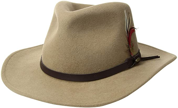 7cb9bb77 Image Unavailable. Image not available for. Colour: Scala Classico Men's  Crushable Felt Outback Hat Black