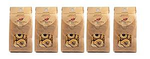 Vigne Vecchie Tarallini with Capsicum Annuum Hot Pepper (subtle heat) 8.8 oz. (5 pack), Fresh Baked Breadsticks [Imported form Italy] - 451