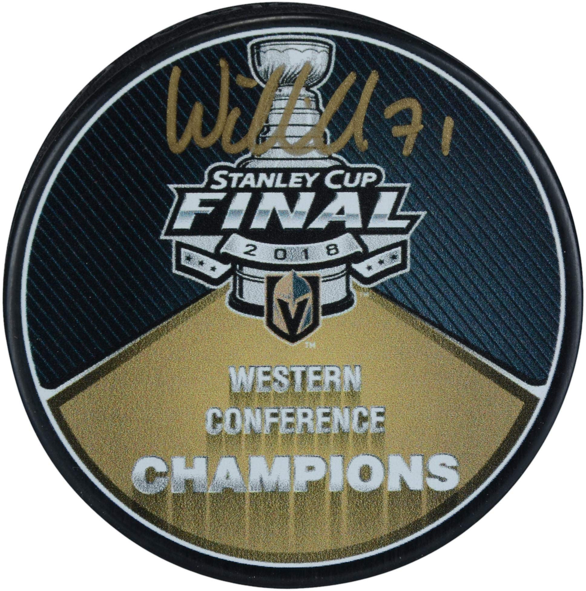 William Karlsson Vegas Golden Knights Autographed 2018 Western Conference Champions Puck Fanatics Authentic Certified