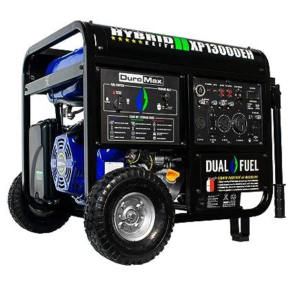 Amazon.com : DuroMax XP13000EH 13000 Watt Portable Hybrid Gas Propane Generator : Garden & Outdoor