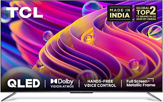 55 inches QLED TV TCL 4K Ultra HD Certified Android Smart QLED TV 55C715 (2020 Model) with Voice Control