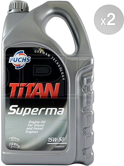 Fuchs Titan Superma 15W-50 - Aceite mineral para motor (2 x 5 L ...