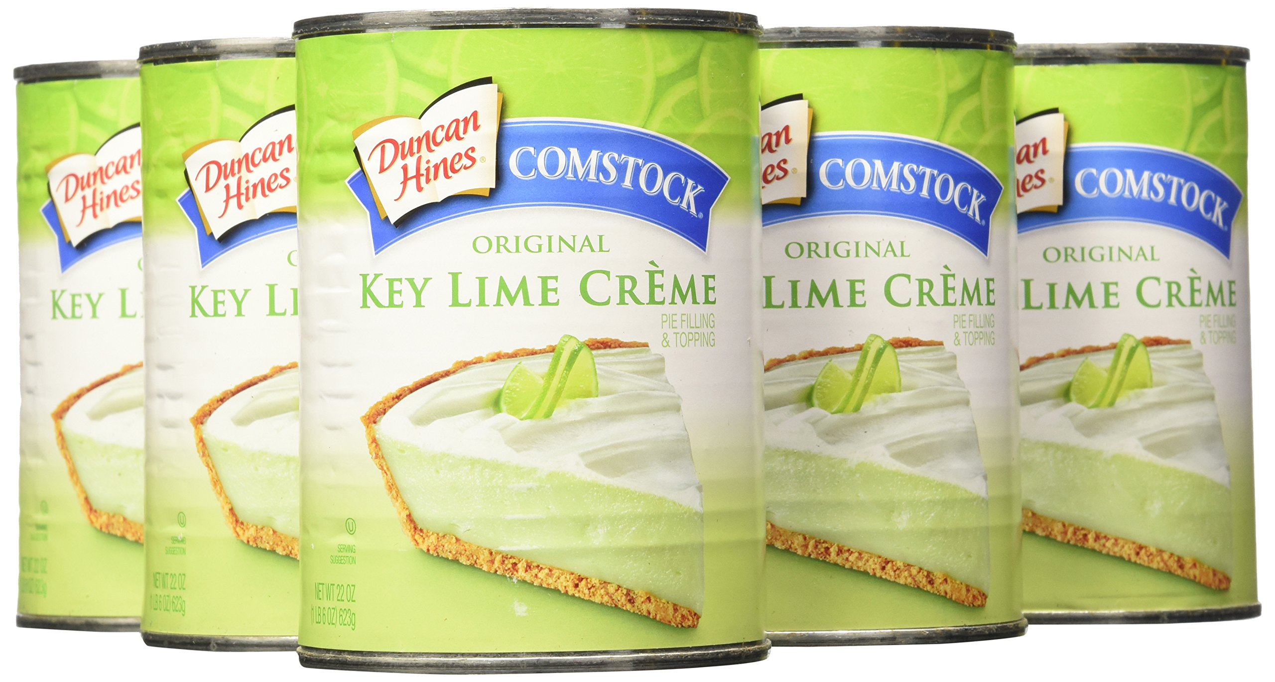 Comstock Original Pie Filling & Topping, Key Lime Creme, 22 Ounce (Pack of 8)