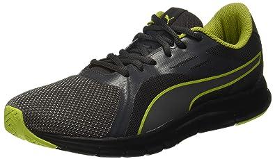 68aaa5de018536 Puma Unisex s Dark Shadow Black-Iron Gate-Limepunch Sneakers-11 UK India