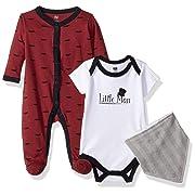 Hudson Baby Baby Multi Piece Clothing Set, Little Man 3, 0-3 Months (3M)
