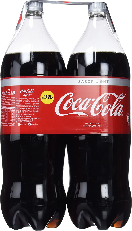 Coca-Cola - Light, Refresco con gas de cola, 2 l (Pack de 2), Botella de plástico: Amazon.es: Alimentación y bebidas