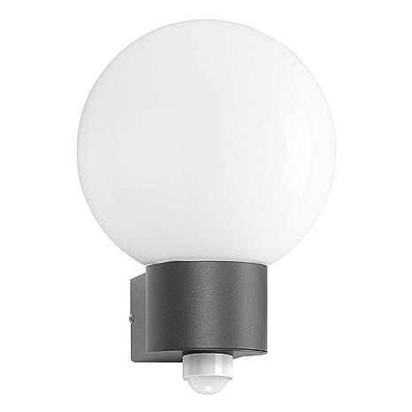 CMD Lámpara de pared para exteriores Aqua de la bola de colour gris oscuro con sensor