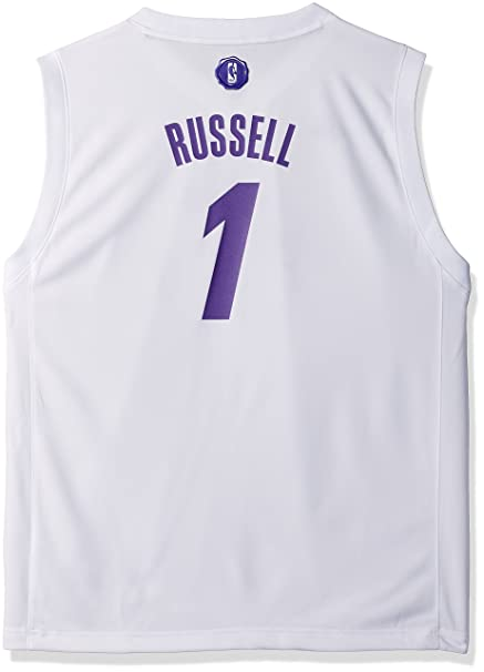 941c7887da7 NBA Youth Boys 8-20 Lakers D'Angelo Russell X-Mas Day Replica Jersey-White-L(14-16),  Jerseys - Amazon Canada
