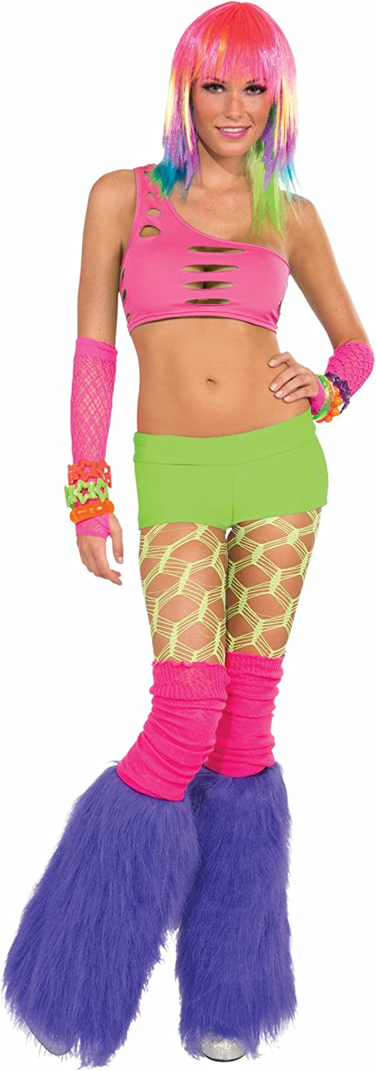 Forum Club Candy Neon Solid Costume Booty Shorts