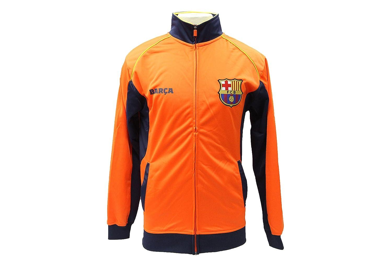 公式FCバルセロナサッカージャケットオレンジ – Rhinox B01CUTSER4Large