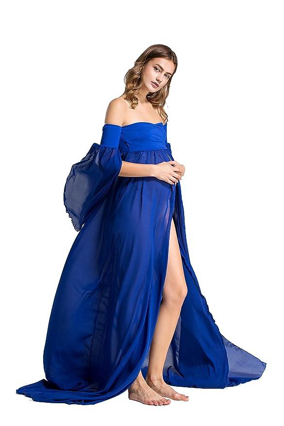 Dance Fairy Mujer Embarazada Largos Vestido, Chifón Dress Fotográficas de Maternidad Apoyos De Fotografía Fiesta Foto Shoot, Tres Colores: Amazon.es: Ropa y ...