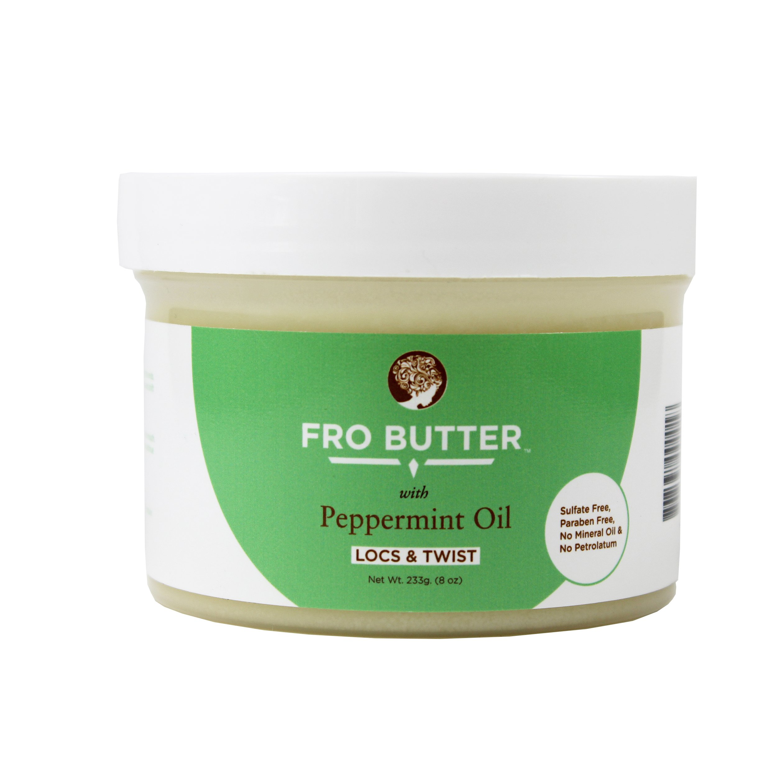 Fro Butter with Peppermint Oil Hair Treatment | Peppermint Oil, Shea Butter, Virgin Coconut & Lavender Oil, Pumpkin Seeds & Nourishing Extracts | For Dry & Itchy Scalp, Coarse & Dry Hair, Men & Women