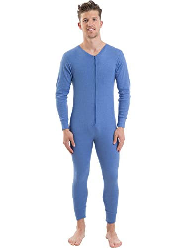 2COZEE Mens Thermal Underwear Long Sleeve All In One Onesie ...