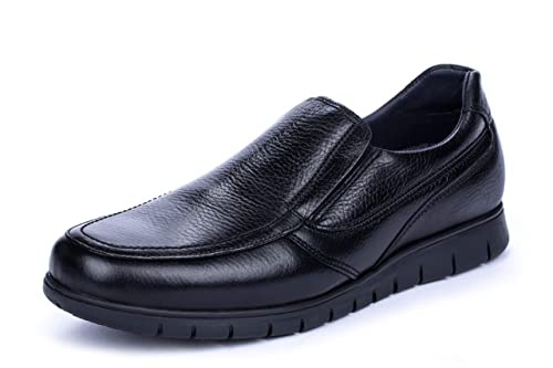 9ff8f3f0777 DCalderoni Teleno Zapatos Negros De Piel Sin Cordones Hombre 40-50 EU   Amazon.es  Zapatos y complementos