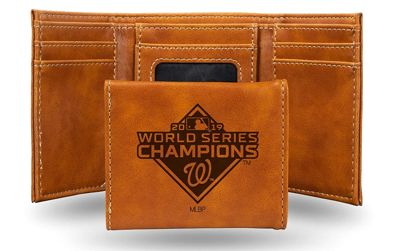 Washington Nationals 2019 Champions Premium Leather Trifold Wallet Embossed