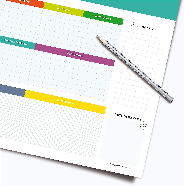 60/x 42/cm fogli bianchi con calendario RNK 46617/sottomano Office