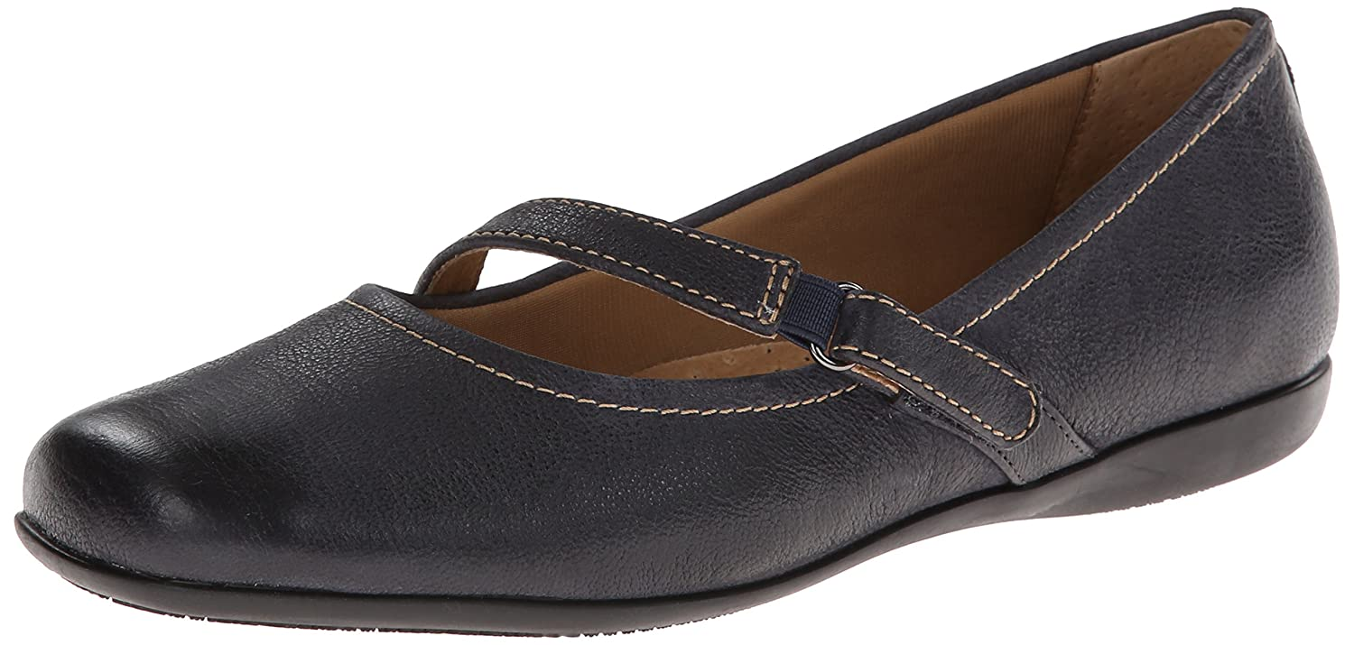 Trotters Women's Simmy Mary Jane Flat B00HQ1F3EO 7 W US|Dark Blue