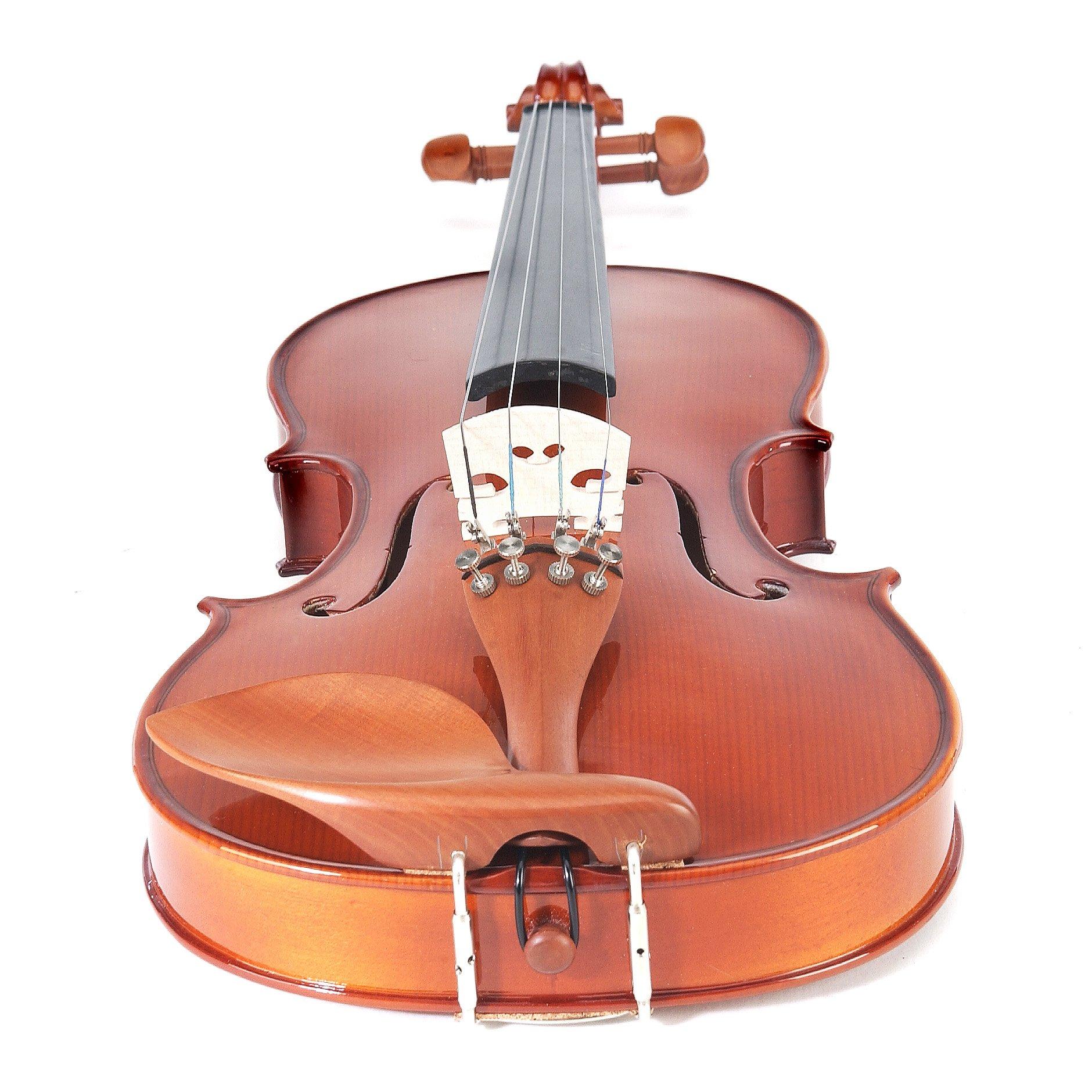 Cecilio CVN-200 Solidwood Violin with D'Addario Prelude Strings, Size 4/4 (Full Size) by Cecilio (Image #4)