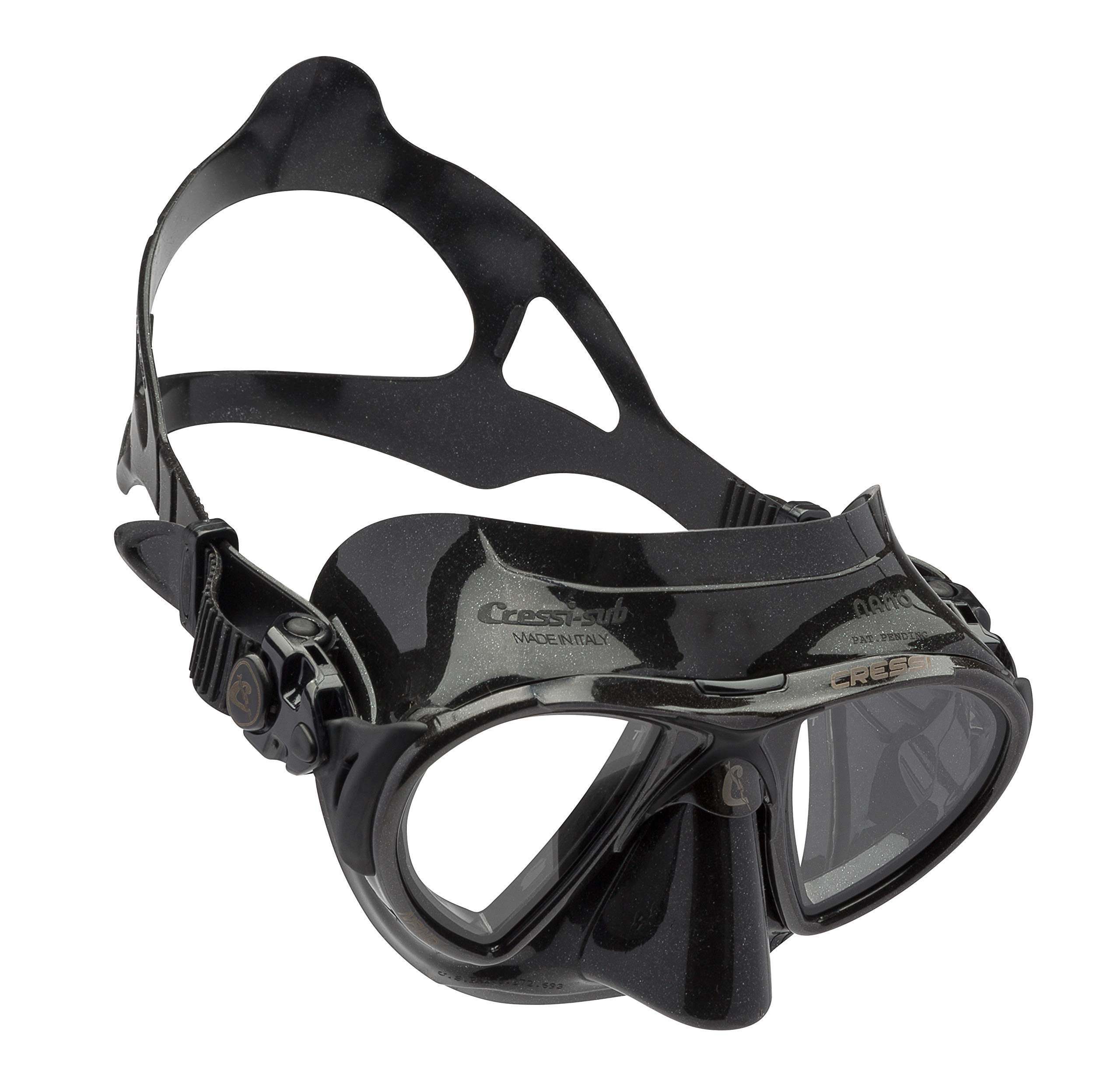 Cressi NANO Expert Adult Compact Mask for Freediving & Scuba Diving, All Black by Cressi