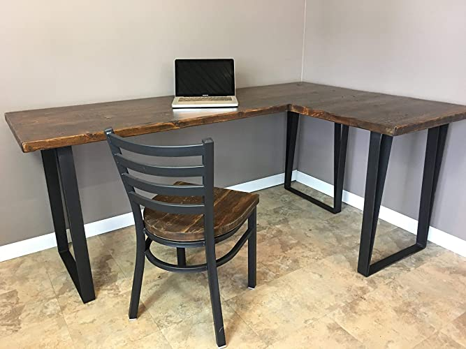 amazon com desk wood l shaped office desk reclaimed wood rh amazon com industrial office desk chair industrial office desk for sale