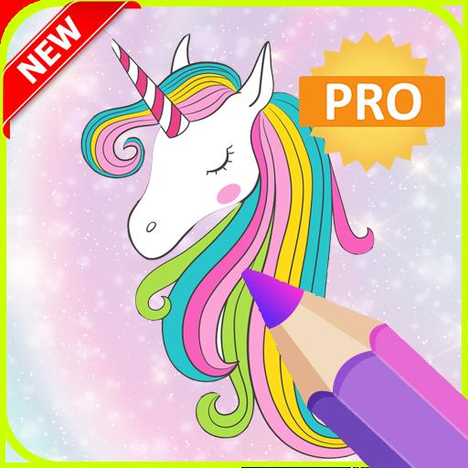 Unicorn Coloring Book Pro With Glitter Coloring Game Amazon Com Au