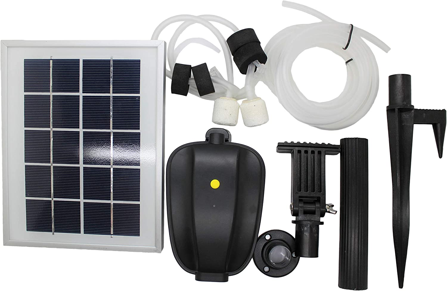 ASC 2.5W Solar Water Pond Oxygenator Kit With Battery Backup and Winter Mode