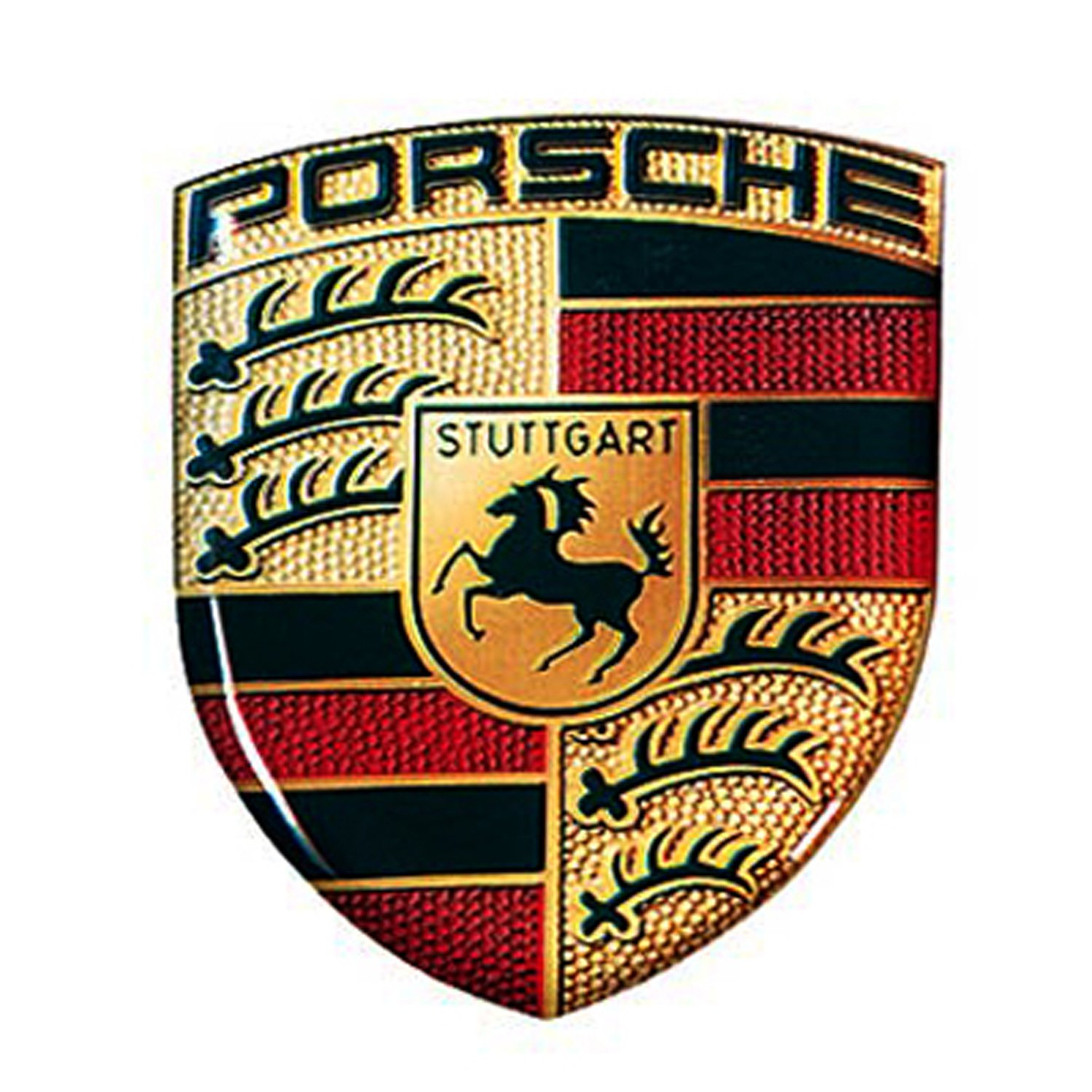 Porsche crest 3d logo sticker amazon co uk car motorbike