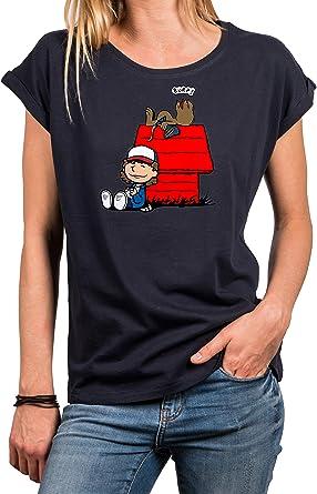 MAKAYA Camiseta Friki para Mujer Talla Grande - Dustin Demorgogon T-Shirt Stranger: Amazon.es: Ropa y accesorios